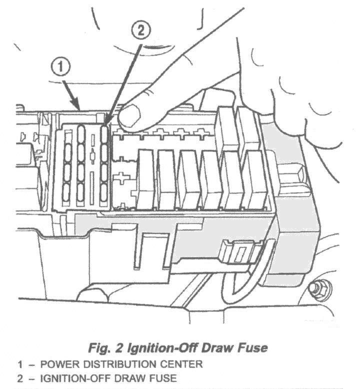 2000_Power_Distribution_Center_a jeep cherokee electrical 1997 2001 xj fuse & relay 1999 jeep wrangler under hood fuse box diagram at crackthecode.co