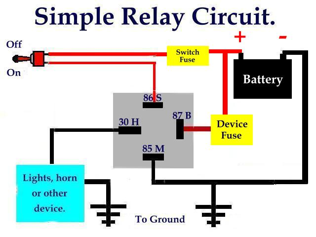 simplerelaycircuit jeep electrical automotive relay basics learn \