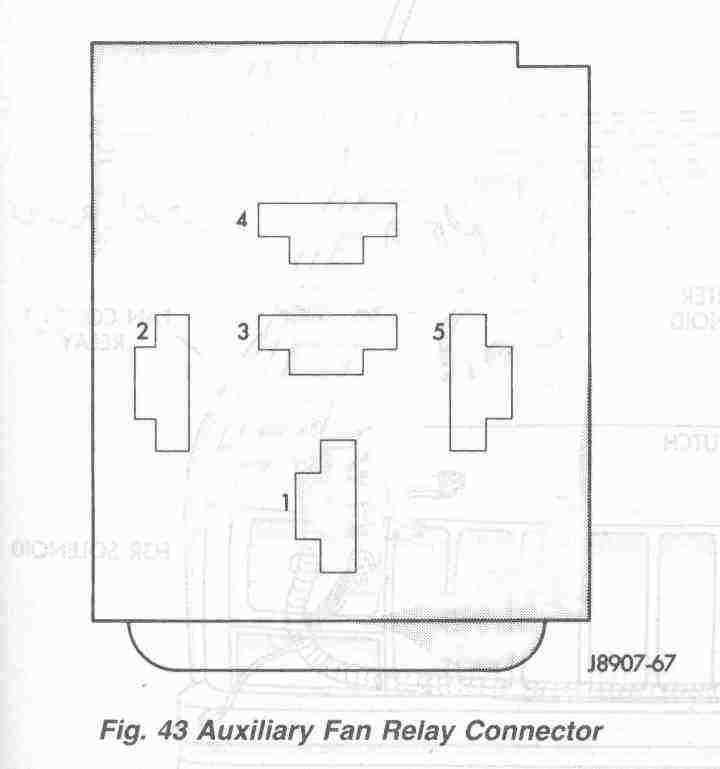 auxiliary fan relay connector schematic